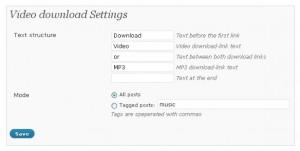 YouTube mp3 Setting