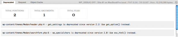 WP Debug Bar Screenshot