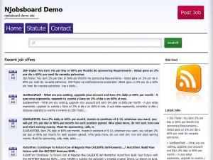 Njobsboard WP Theme screenshoot