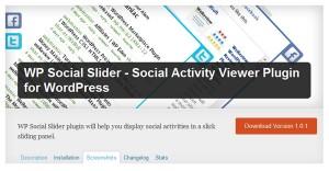 wp social plugin slider